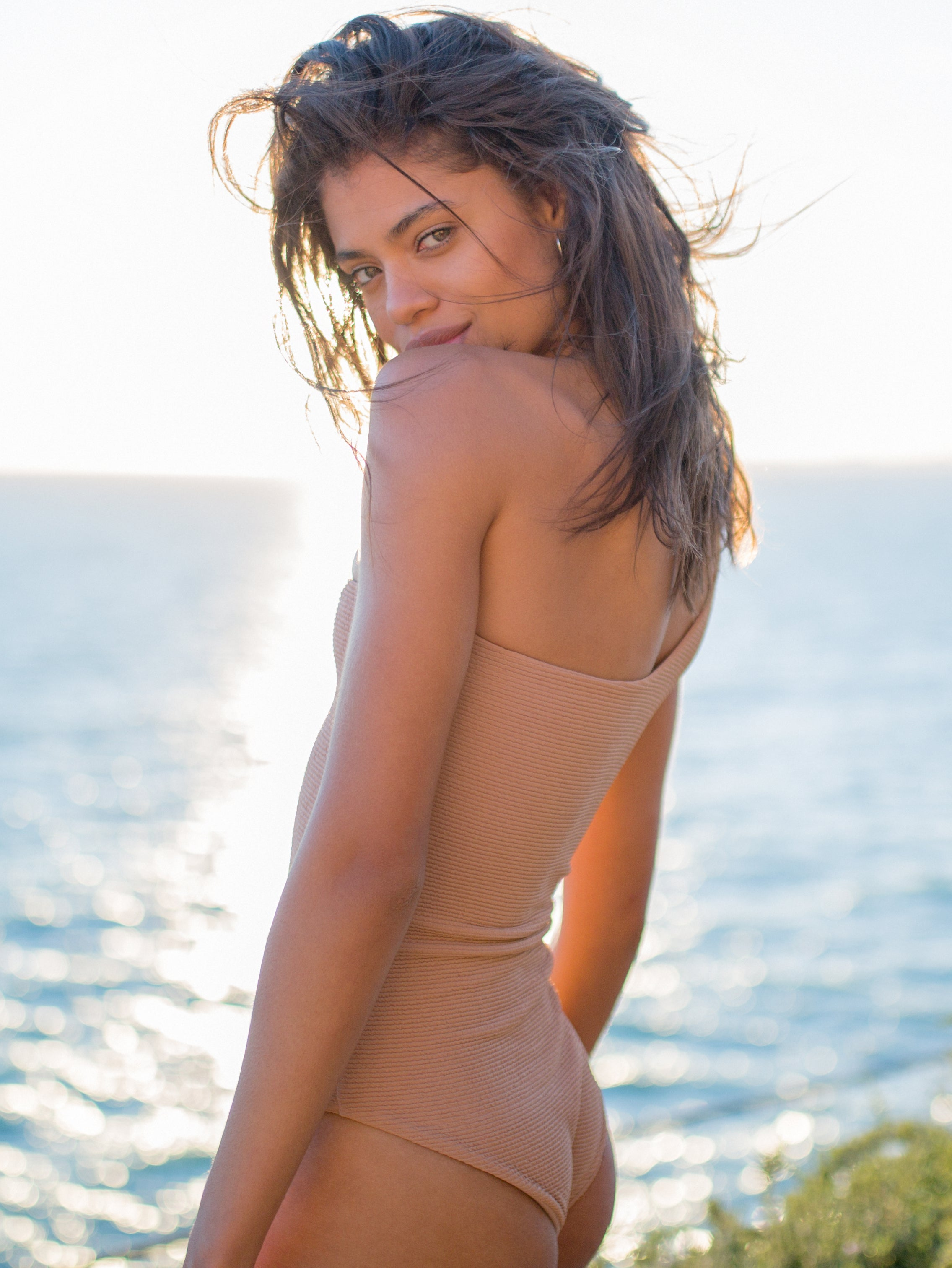 Storm Swimwear - Cinque Terre - One shoulder One Piece in Storm Le Nuage Sable