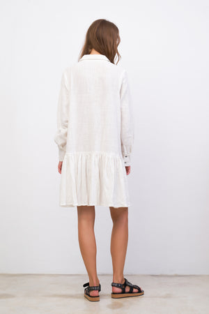 La Confection - Hermione - Long Sleeve Dress in White