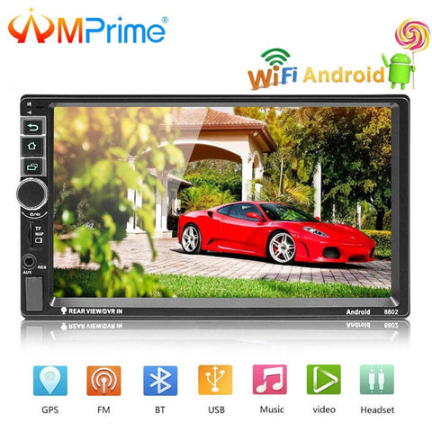 "AMPrime Universal 2 din 7"" Car radio Android System Car Multimedia Bluetooth GPS Autoradio Touch Screen MP5 Player TF/USB/FM"