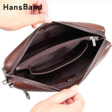 Hansband Genuine Leather Password Lock Wallet Male Passport Card Holder Money Coin Purses Phone Cases