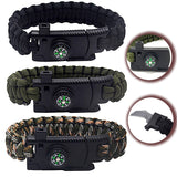 High Quality Camping Equipment Hiking Outdoor Survival  Knife Bracelets Parachute Rope Military Wrap Multi-function Tools