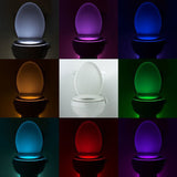 Litwod 8 Colors LED Toilet Night light Motion Activated Sensor Toilet-Light Sensitive Battery-operated Lamp 3d tooth lamp