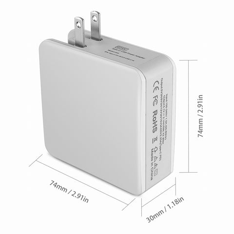 Wall Travel Charger Adapter Type-C Intelligent Quick Charge For iPhone iPad Macbook