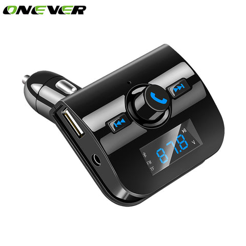 Onever DC 12-24V Bluetooth Car Kit MP3 Music Player Wireless FM Transmitter Hands-free Modulator 3.1A USB Car Charger For Phone
