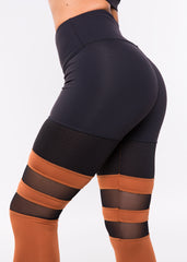 BLACK COOPER GODDESS HIGHWAISTED MESH LEGGINGS