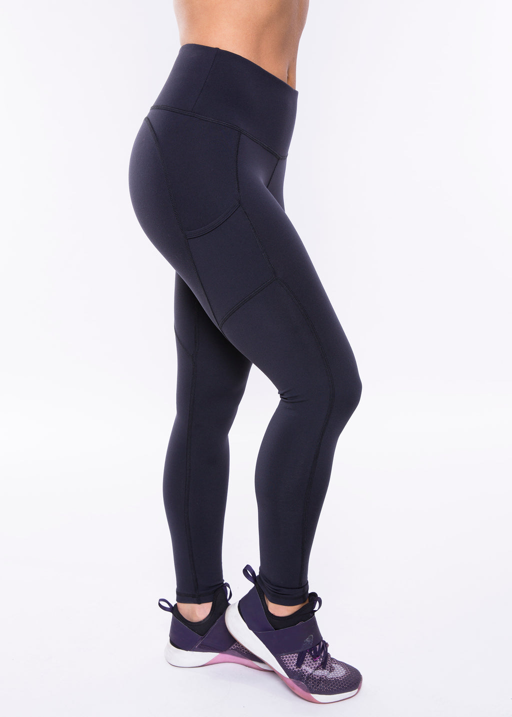 Heartcore Black Side Pocket Leggings