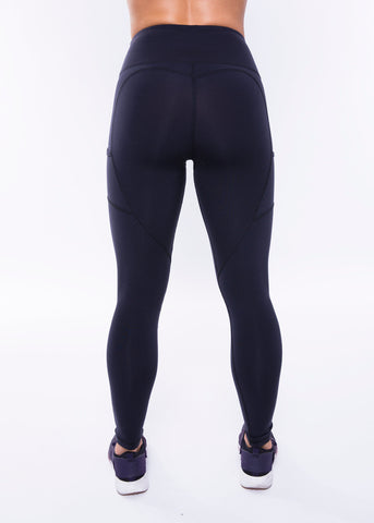 BLACK HEARTCORE SIDE POCKET LEGGINGS