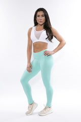 PISTACHIO HIGH WAISTED LEGGINGS