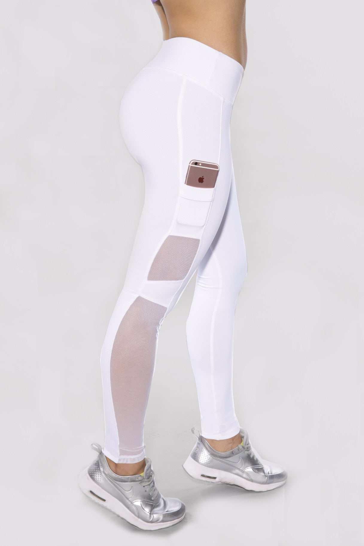 WHITE HYPE SIDE POCKET LEGGINGS