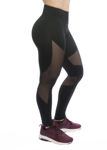 SOULY BLACK MESH LEGGINGS