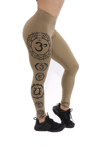 TAN SEVEN CHAKRAS LEGGINGS