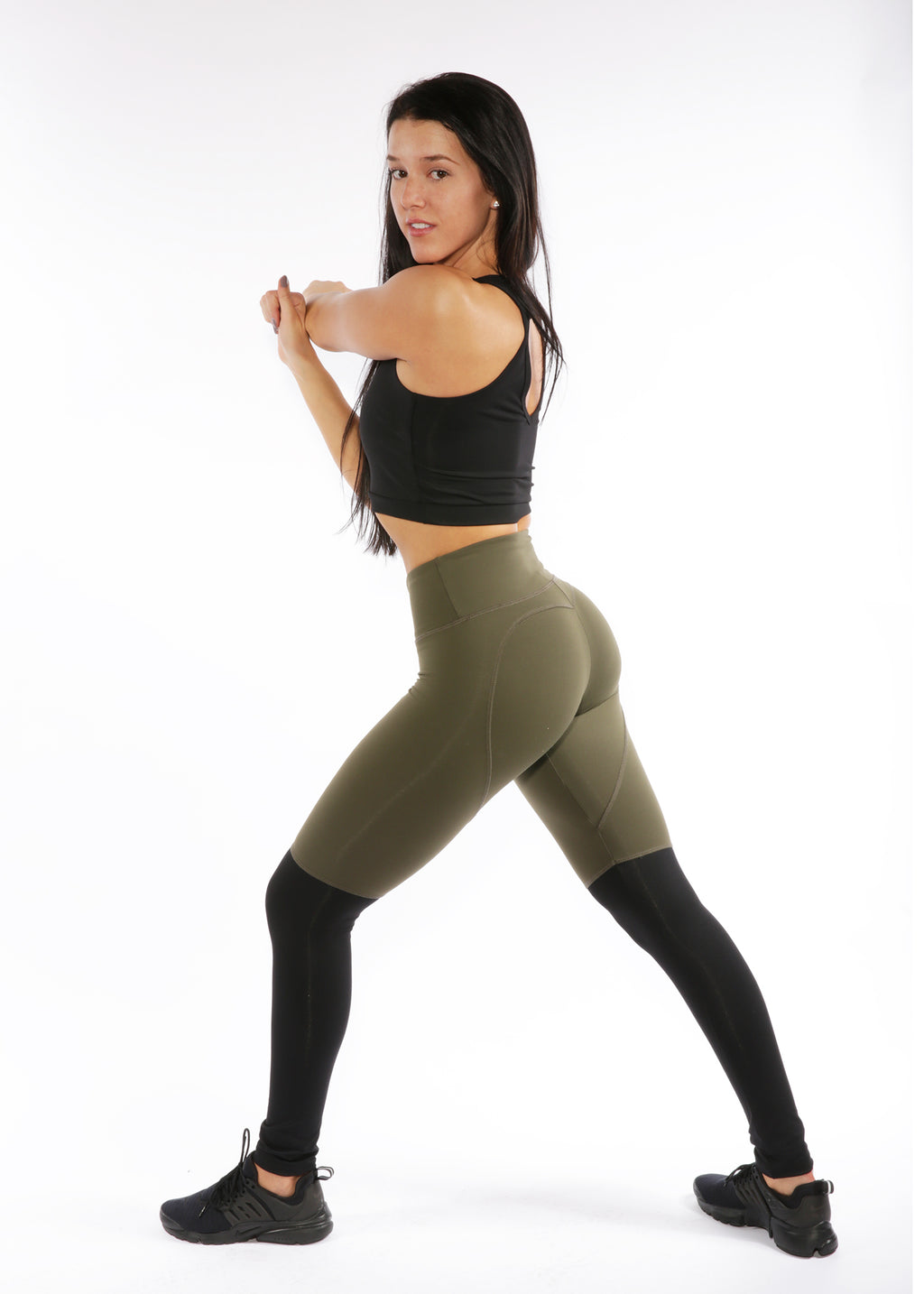 Heartcore Olive Two Tone Leggings