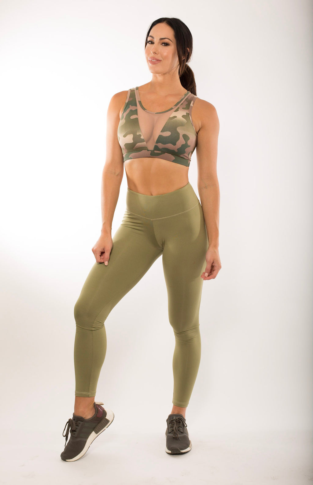SIMPLICITY OLIVE HIGH WAIST LEGGINGS