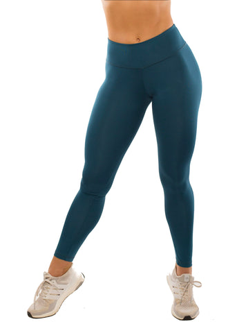 SIMPLICITY TEAL HIGH WAIST LEGGINGS
