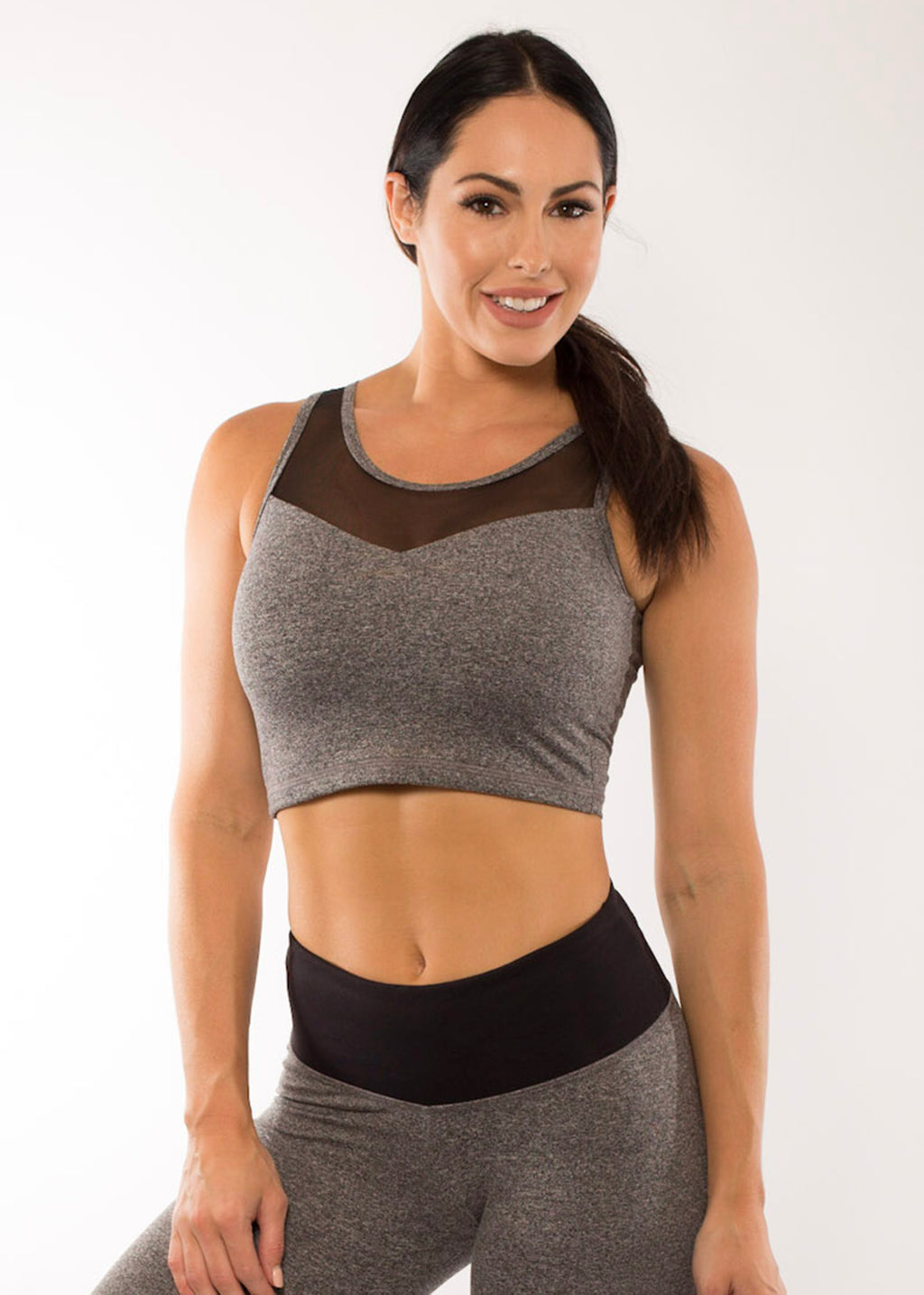 GREY DYE STARDUST CROP TOP