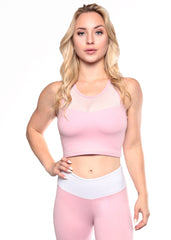 ROSE STARDUST CROP TOP