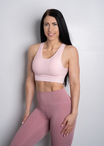 AWAKEN BLUSH SEAMLESS SPORT TOP