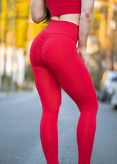 RED APPLE SCRUNCH BOOTY LIFT LEGGINGS