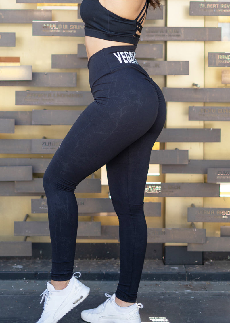 Vegan Athlete Black Scrunch Leggings