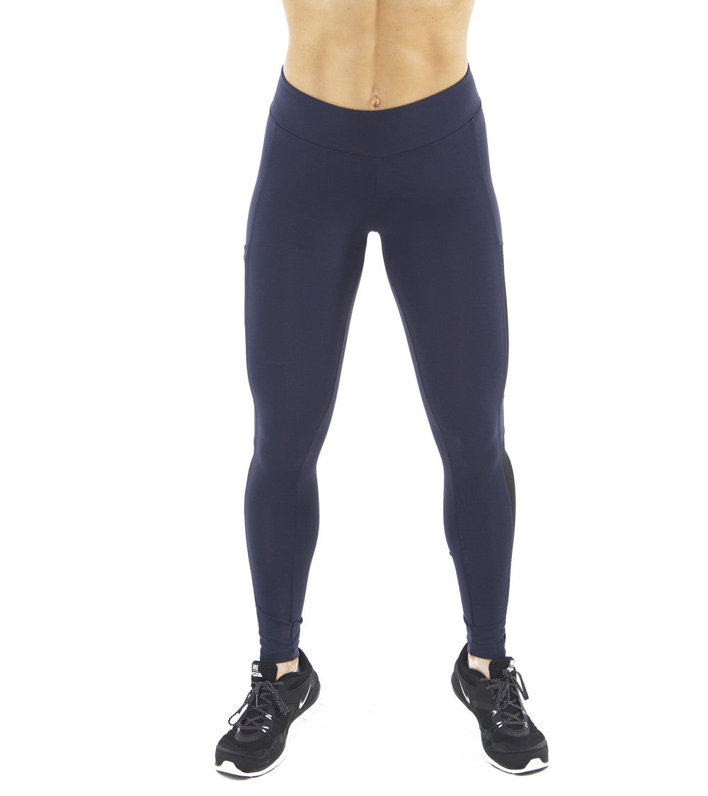 NAVY HYPE SIDE POCKET LEGGINGS