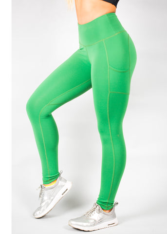 GREEN HEARTCORE SIDE POCKET LEGGINGS