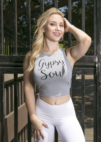 GREY GYPSY SOUL CROP TOP