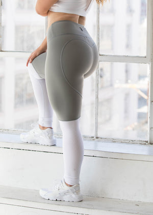 Heartcore Grey Two Tone Leggings