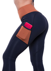 BLACK COOPER HEARTCORE SIDE POCKET LEGGINGS
