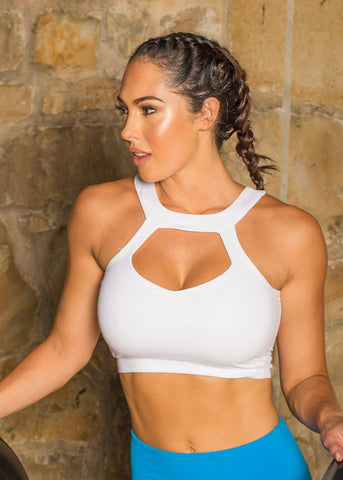 CLARITY WHITE CROP SPORT TOP