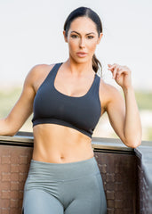 BLACK SCOOP SPORT BRA