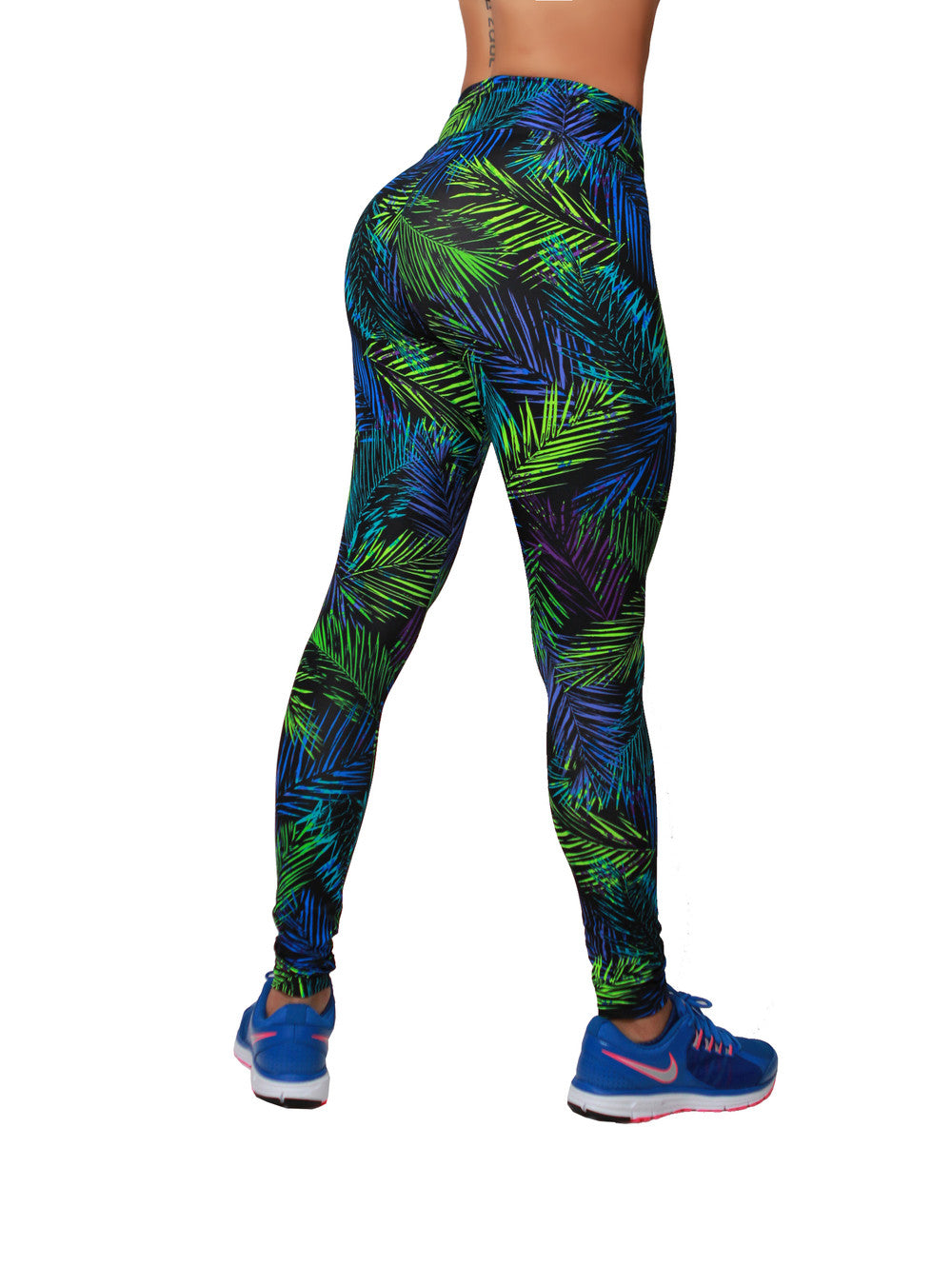 Electric Green Print Leggings