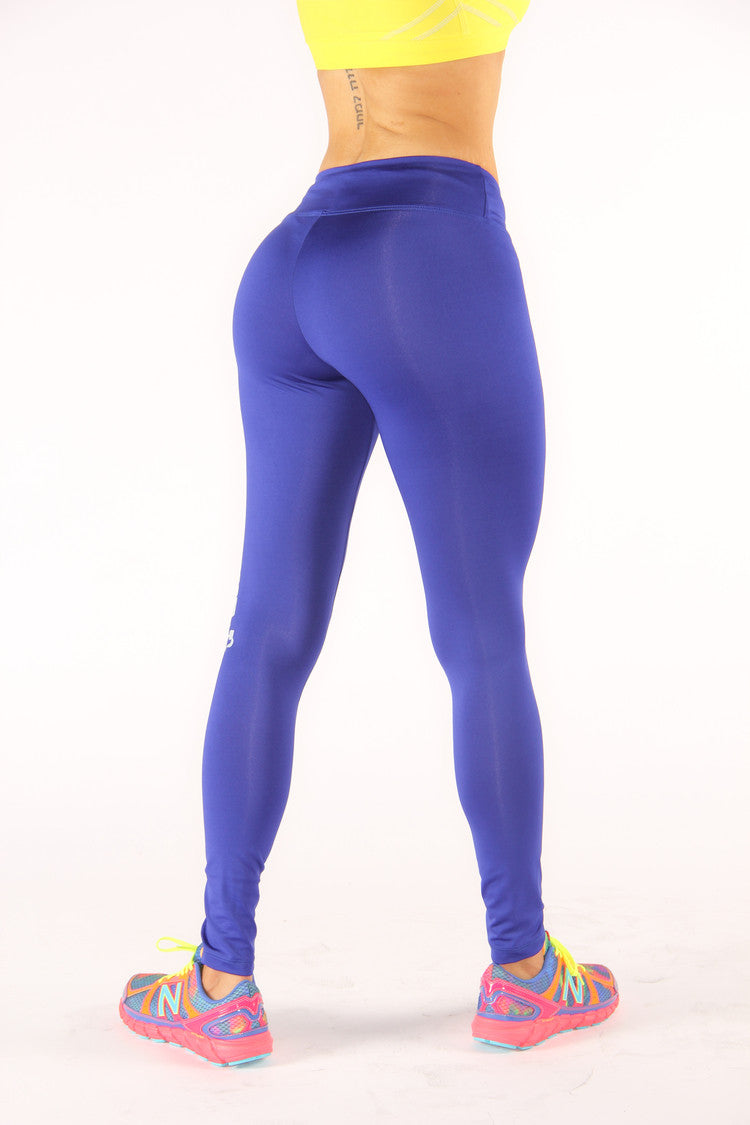 Royal Blue Believe Achieve Leggings