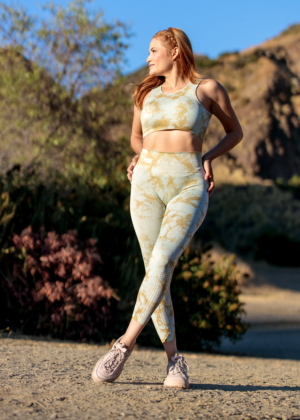 Tie-Dye Perforated Seamless Highwaist Leggings
