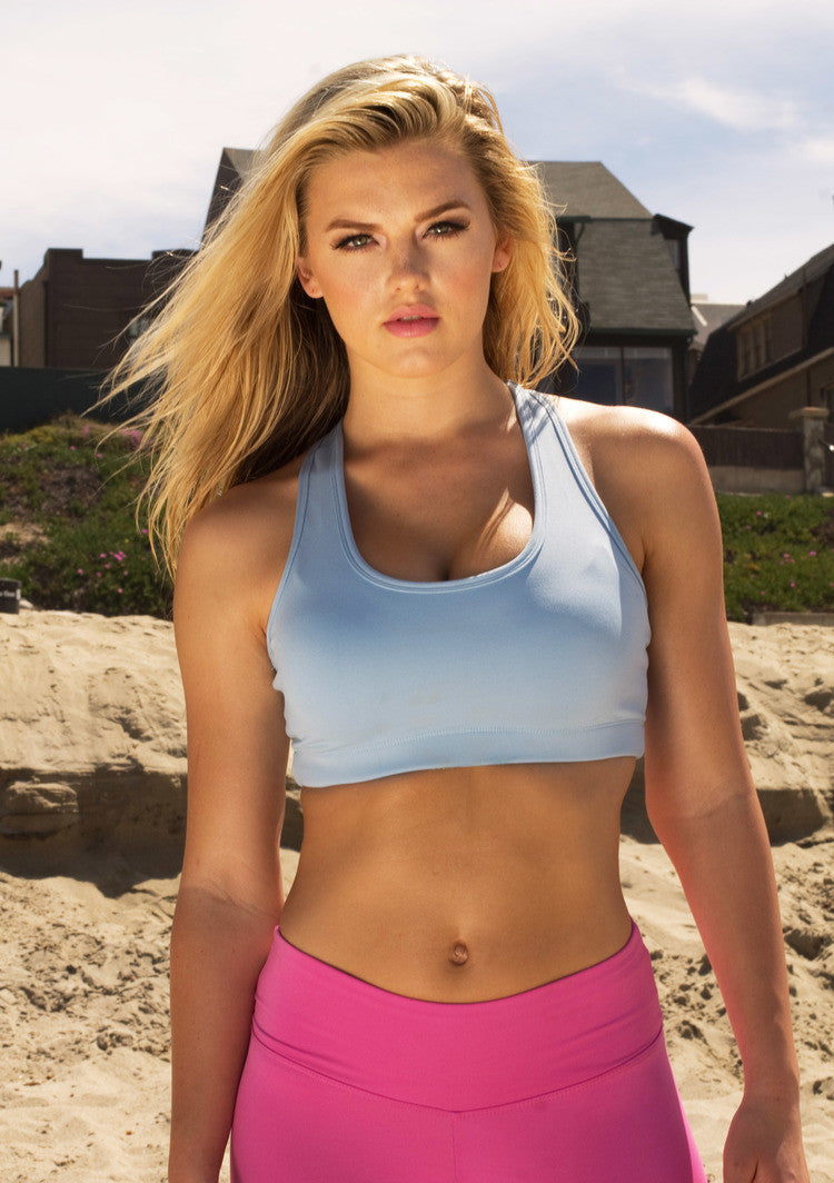 Light Blue Sports Bra