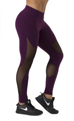 SOULY PLUM MESH LEGGINGS