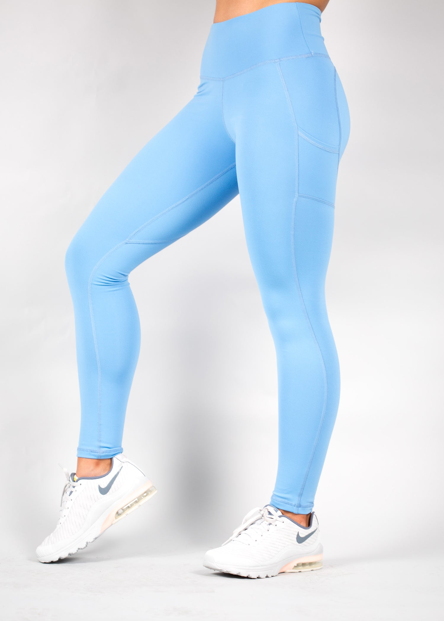 LIGHT BLUE HEARTCORE SIDE POCKET LEGGINGS