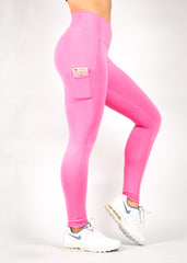 LIGHT ROSE HEARTCORE SIDE POCKET LEGGINGS