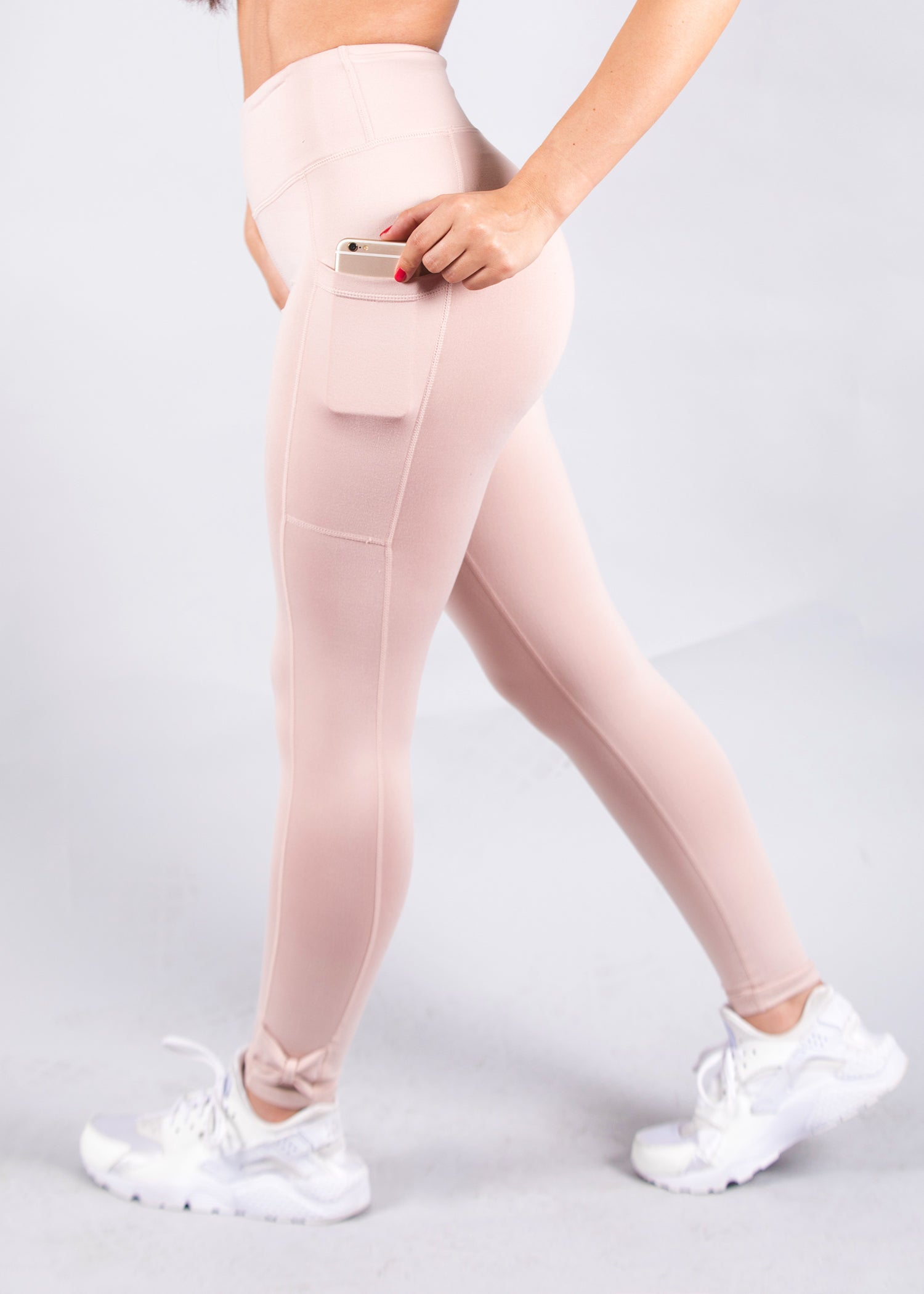 MAYA PEACH SIDE POCKET LEGGINGS