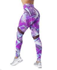 FREEDOM LILAC ARROW MESH LEGGINGS