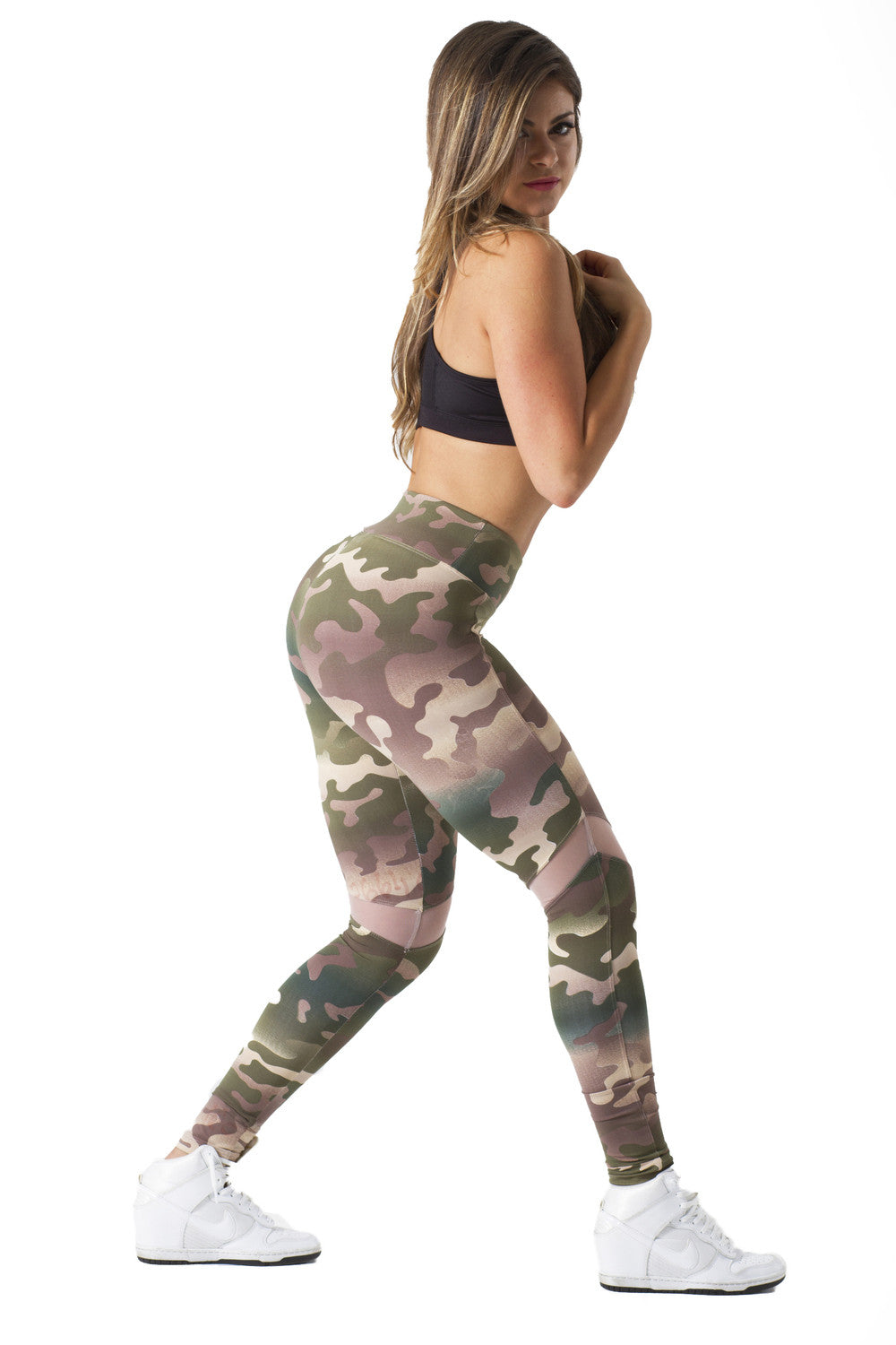 CAMO FREEDOM ARROW MESH LEGGINGS