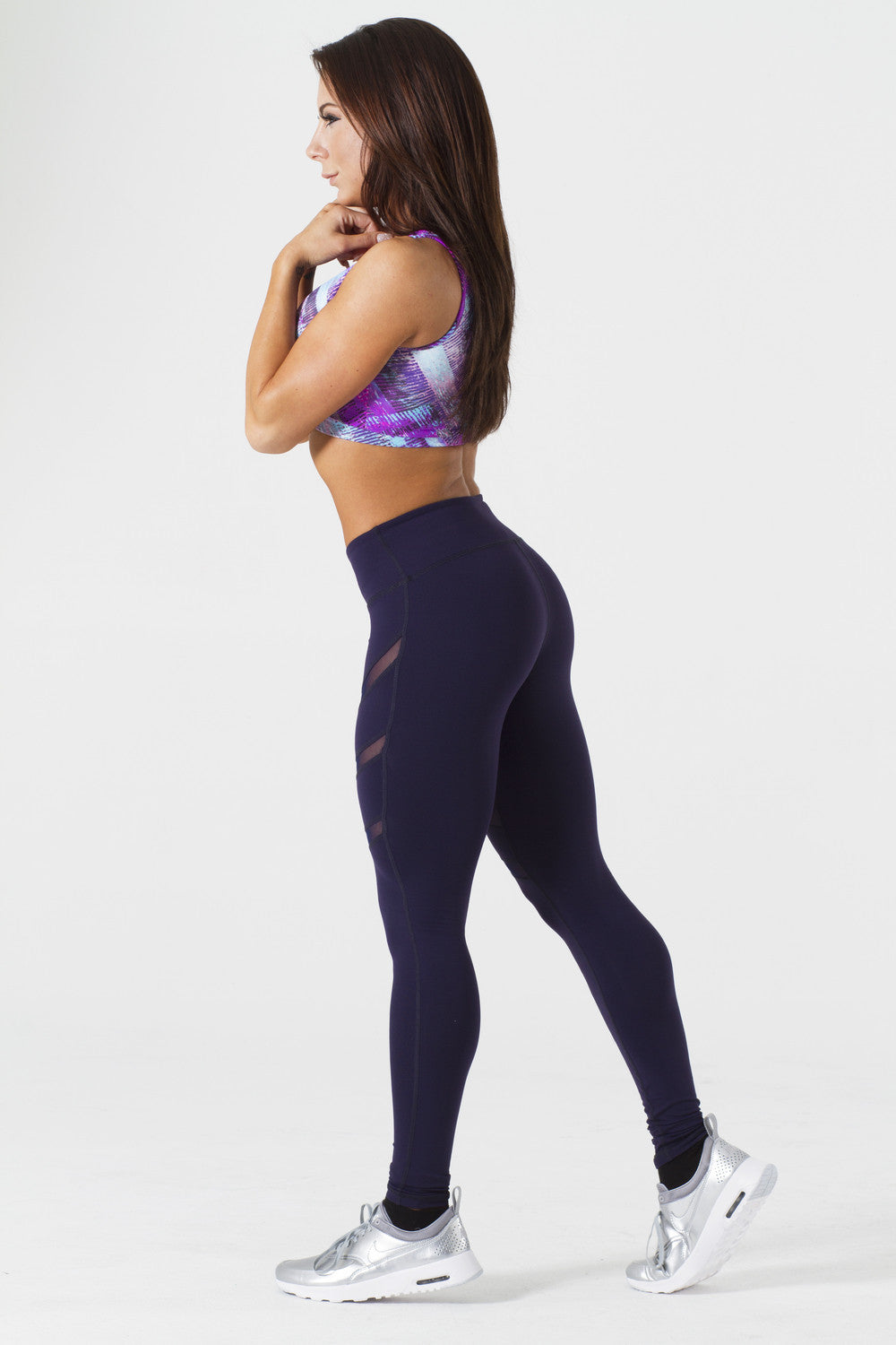 JOY NAVY/ NAVY BLUE MESH LEGGINGS