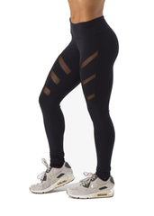 JOY BLACK/BLACK MESH LEGGINGS