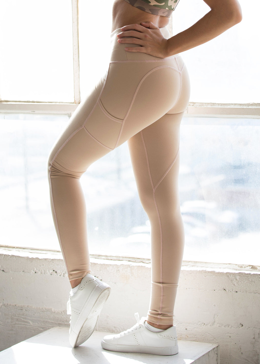 Heartcore Tan Side Pocket Leggings