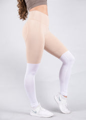 NUDE TWO TONE HEARTCORE LEGGINGS