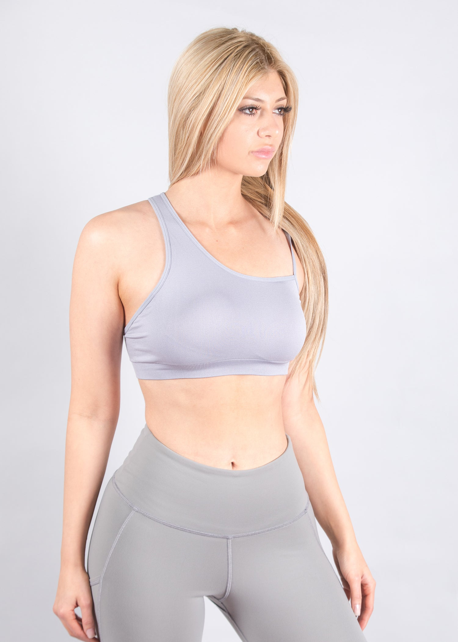 LIGHT BLUE SEAMLESS SPORT TOP