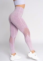 Energy Lavender Dye Wash Seamless Leggings