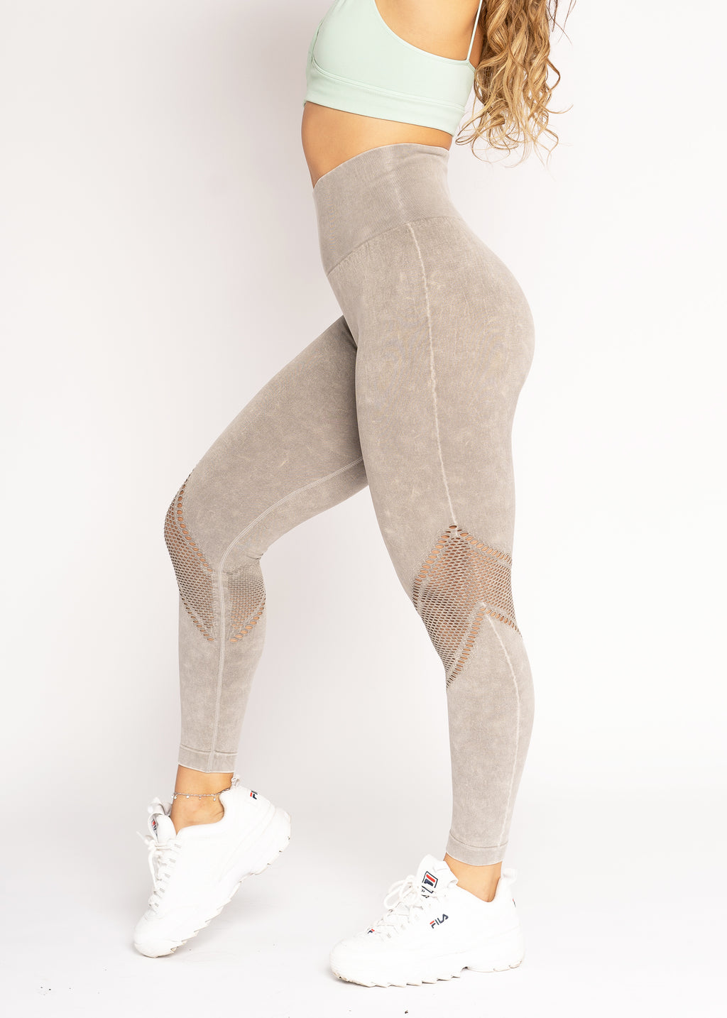 Energy Fern Dye Wash Seamless Leggings