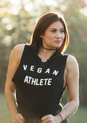 BLACK VEGAN ATHLETE TOP