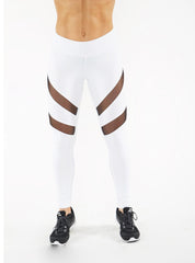 HEATHER WHITE MESH LEGGINGS