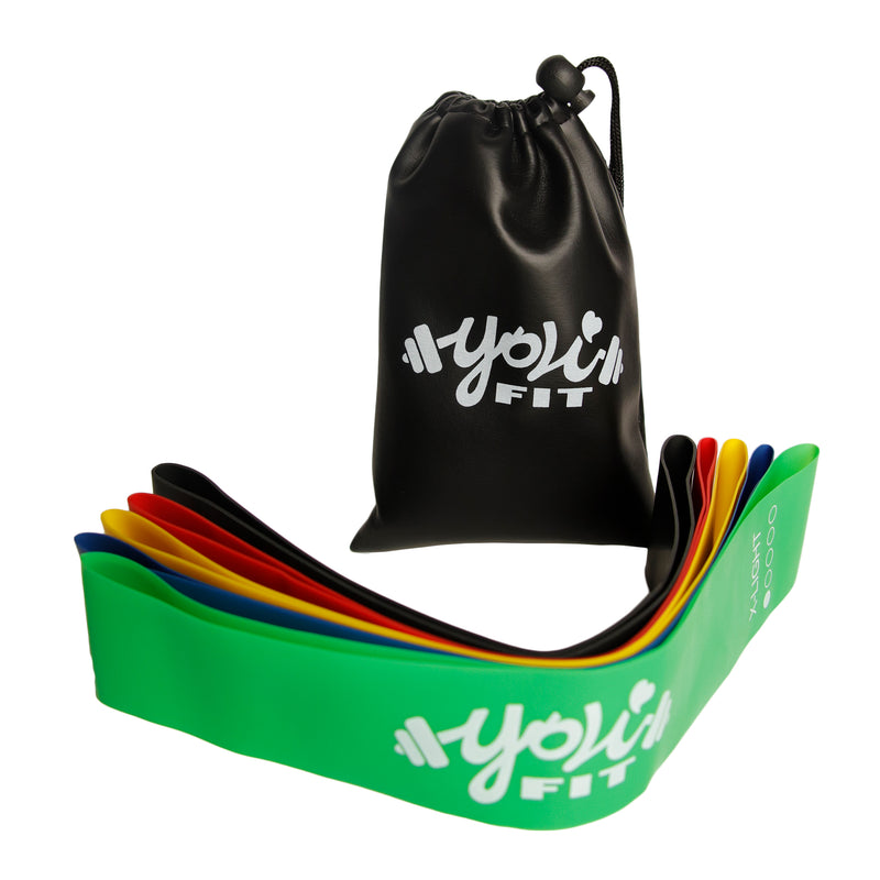 Premium Resistance Bands - 5 Pack Black Bag